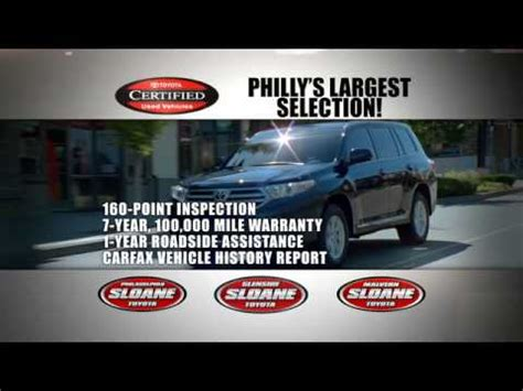 Sloane Toyota Glenside by Sloane Toyota Glenside Certified Pre Owned Vehicles