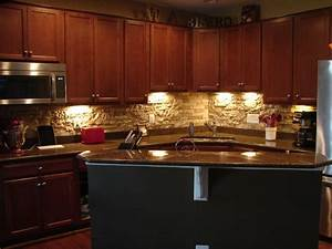 diy stone backsplash for the home pinterest With kitchen cabinets lowes with pin up girl wall art