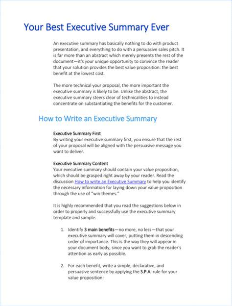 project executive summary template executive summary templates 15 exles and sles all form templates