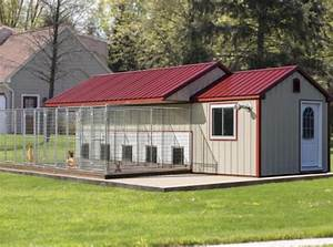 Amish made portable dog kennels in the usa the dog for Portable dog kennel building