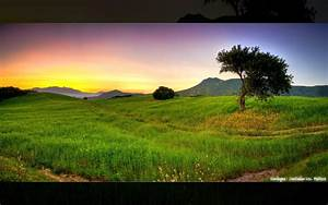 HD Sunset Landscapes Nature Fields Hdr Photography Photo
