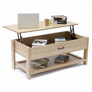Lift, Top, Coffee, Table, Laptop, Tables, With, Hidden, Storage, Compartment, Shelves, Folding, Tabletop