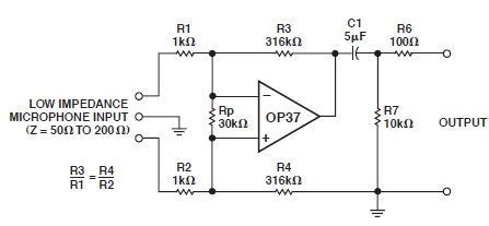 Low Noise Microphone Preamp Circuit Design