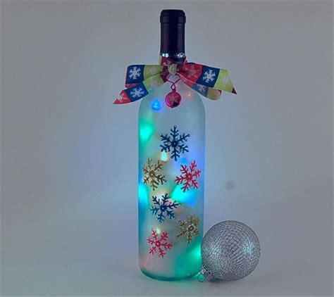 bing wine bottle crafts with lights gifts to make