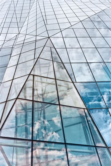 Modern Glass Building In Abstract Stock Photo  Image Of
