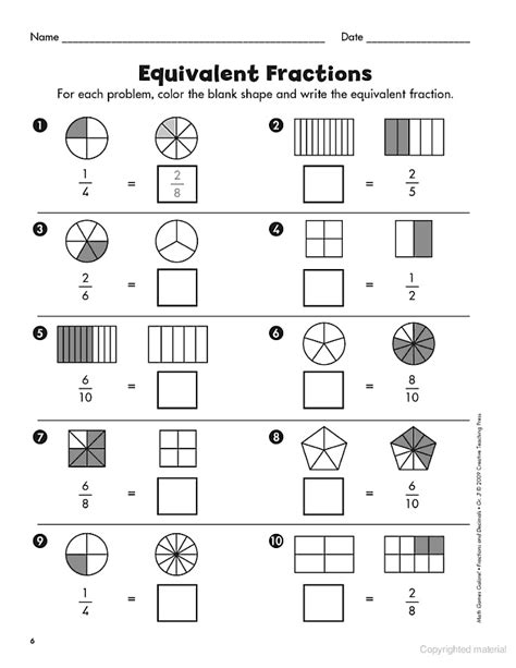 210 Best Images About Math  Fractions On Pinterest