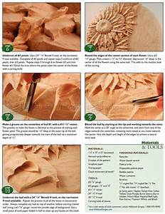 Relief Carving Patterns - Sunflower Clock • WoodArchivist