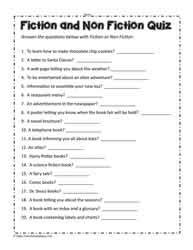 fiction or non fiction worksheets