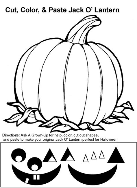 printable jack  lantern coloring pages