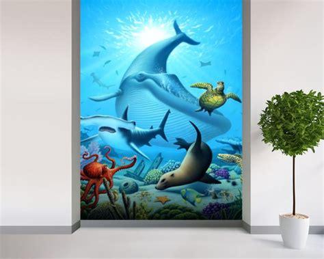 Ocean Life Wall Mural & Ocean Life Wallpaper Wallsauce