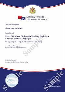 LTTC TEFL Certificates