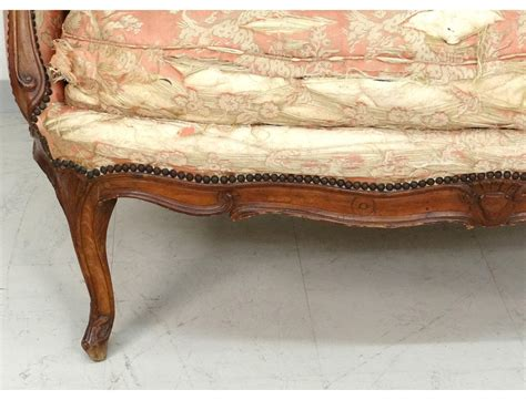 canape banquette sofa bench carved walnut louis xv trash st tilliard
