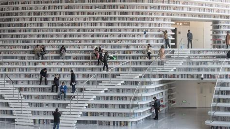 The new Tianjin Binhai Library is perhaps the most