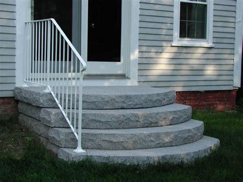 precast cement steps concrete steps precast vs poured in place front door 1624