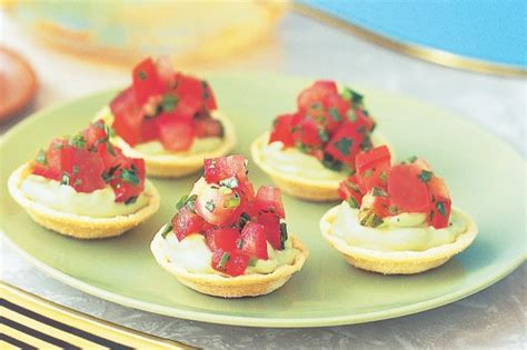 canape recipes avocado canape cups with tomato salsa recipe