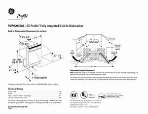 Ge Profile Pdw9200jww Manuals