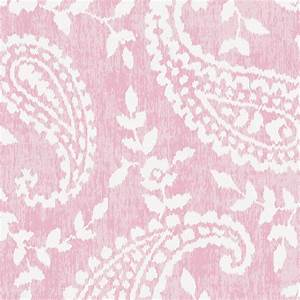 Pink Paisley Fabric by the Yard Pink Fabric Carousel
