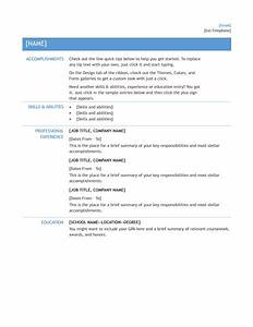 microsoft office 365 sample resume templates resume for With internal resume format