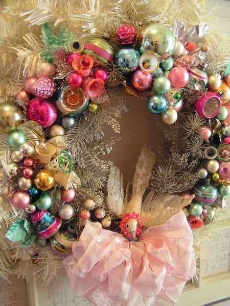 vintage christmas ornaments to make dishfunctional designs vintage christmas ornament wreaths