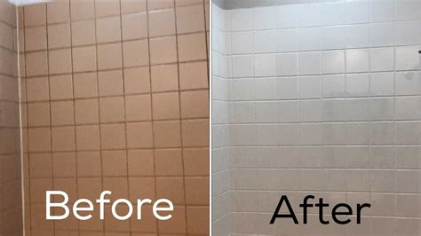 ceramic tile refinishing painting bathroom tile before and after diy floor
