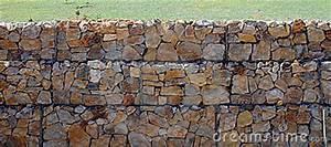 Mur De Soutenement En Gabion : mur en pierre de gabion image stock image 12636191 ~ Melissatoandfro.com Idées de Décoration