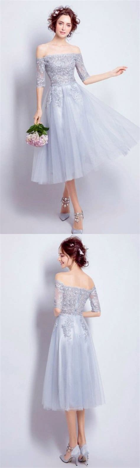 [$108.99] Best A Line Short Party Dresses Off the Shoulder ...