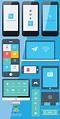 Vector iPhone app UI Design Free by GraphicsUmbrella on ...