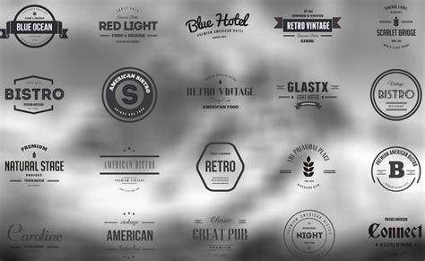 vintage logos  badges bistro  hotel vector