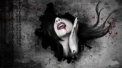 Gothic Horror Vampires Dark Blood Fantasy Face