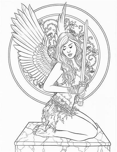 Coloring Pages Adult Fantasy Fairy Dark Gothic