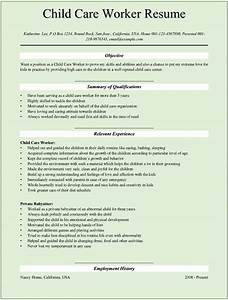 Child Care Provider Resume Template | learnhowtoloseweight.net