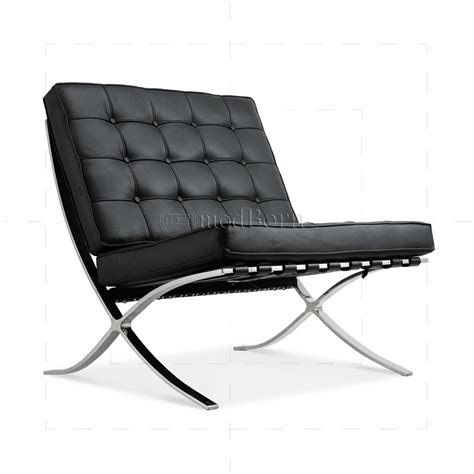 ludwig mies der rohe barcelona style chair black leather