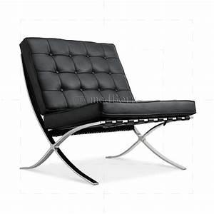Mies Van Der Rohe Chair : ludwig mies van der rohe barcelona style chair black leather ~ Watch28wear.com Haus und Dekorationen