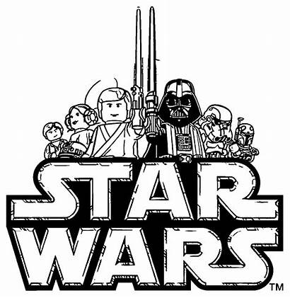 Wars Lego Coloring Star Chewbacca Pages Clipart
