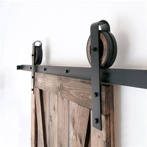 wide rustic sliding barn door closet hardware set