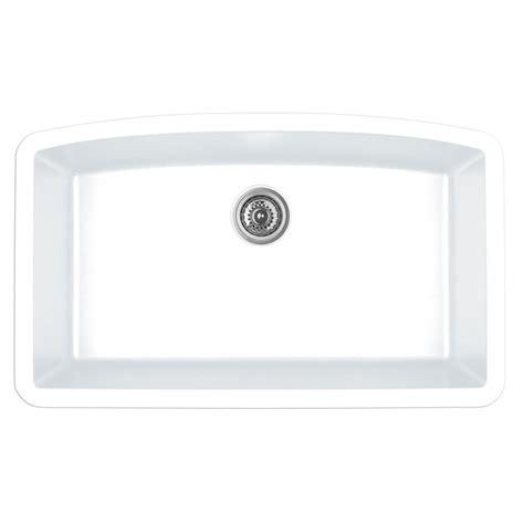 composite kitchen sinks white blanco precis undermount granite composite 32 in