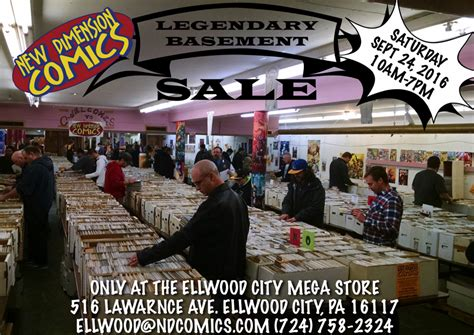 Legendary Basement Sale!  Saturday Sept 24, 2016