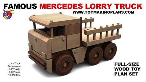 wood toy plan  mercedes lorry truck youtube