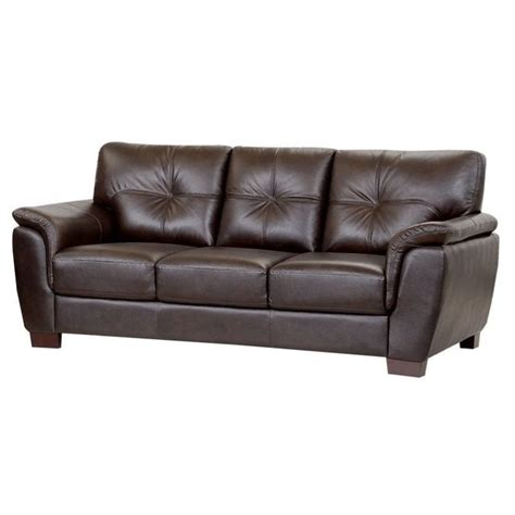 abbyson living leather sofa abbyson living timston leather sofa in brown ci 1789 brn 3