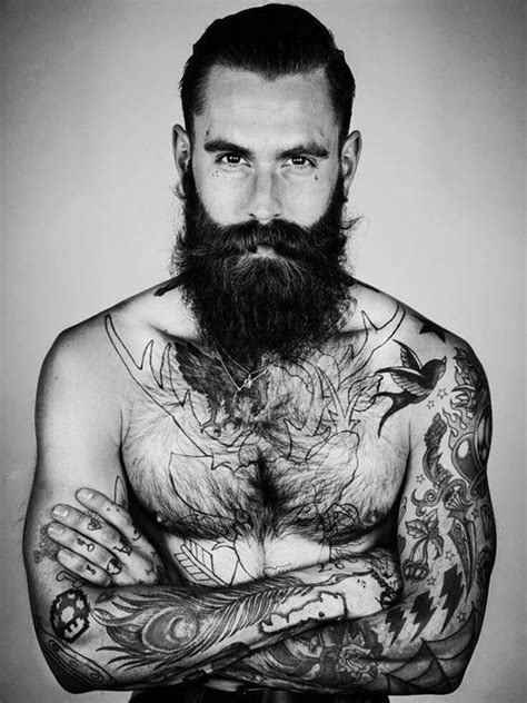 Ricki Hall Black & White Model Man Fashion Tattoo