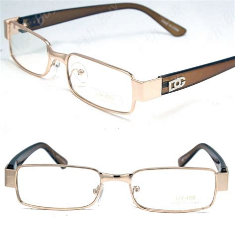 designer s eyeglasses new mens dg clear lens gold frame glasses designer