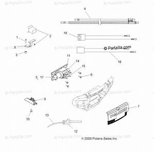 Polaris Atv 2006 Oem Parts Diagram For Winch A06mh76at