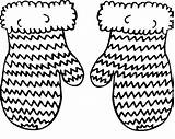 Mittens Coloring Pages Mitten Drawing Knitted Hand Drawn Illustration Hat Pair Vector Winter Sketch Clipartmag Shutterstock Template Colorluna sketch template