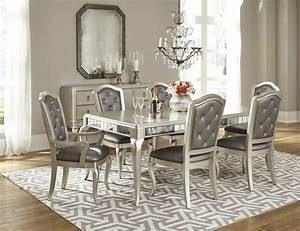 Diva Dining Room Set in Platinum Bling by Samuel Lawrence