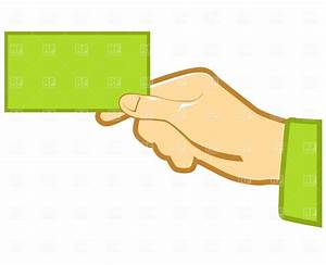 Hand with blank business card 1811 business finance for Clipart for business cards