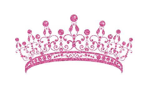 glittering diadem pink tiara isolated  white background