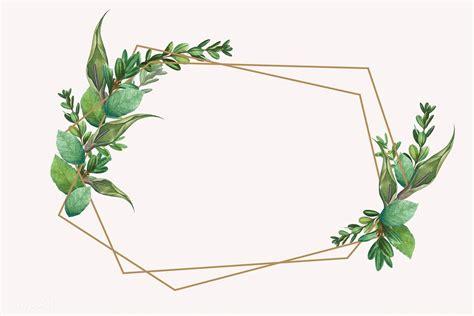 Download premium vector of Tropical botanical frame design ...