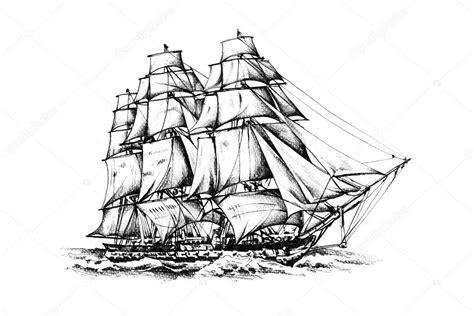 Barco De Vela Antiguo Dibujo by Dibujo De Motivo De Mar Barco Antiguo Hecho A Mano Fotos