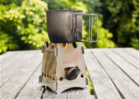 emberlit titanium stoves  camping tms titanium
