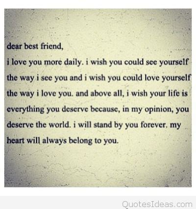 letter to my best friend that will make her cry cute tumblr dear best friend quote